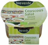Couscous-Salat mit Linsen und Lauch, vegan